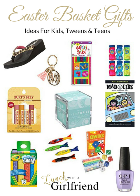 Easter basket gift ideas lunch with a girlfriend ive put together some ideas for kids tweens and teens since ive got one in each of those categories negle Image collections
